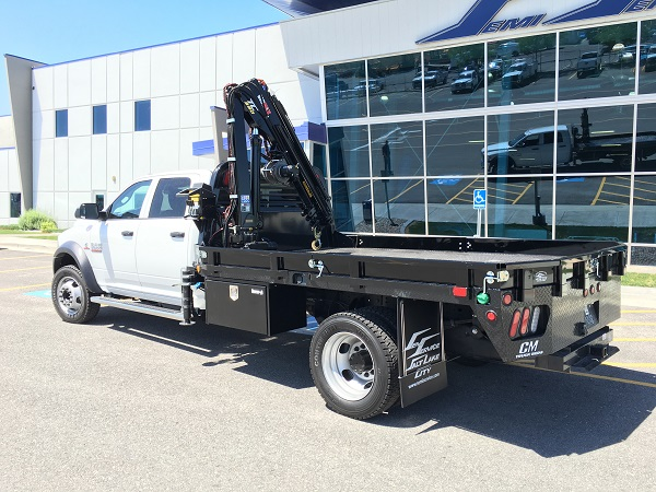 Specialized crane truck flatbed from Semi Service in Salt Lake City, Utah